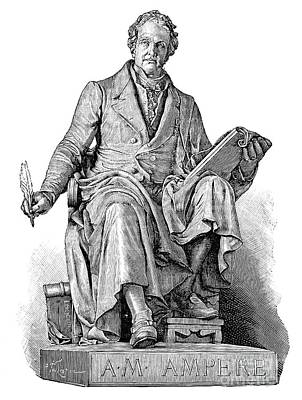 Andre-marie Ampere, French Physicist Print by Spl