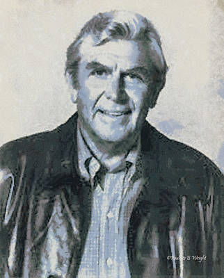 Andy Griffith Print by Paulette B Wright
