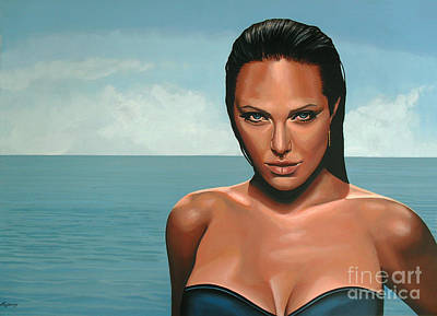 Honey Painting - Angelina Jolie by Paul Meijering