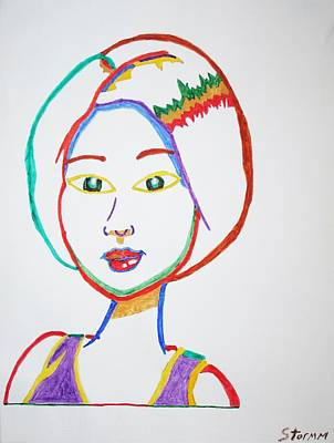 Asian Pop Culture Painting - Anime Asian Girl by Stormm Bradshaw