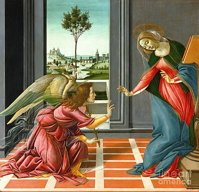 Archangel Painting - Annunciation by Sandro Botticelli
