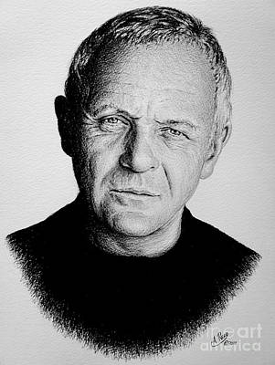 Anthony Hopkins Print by Andrew Read