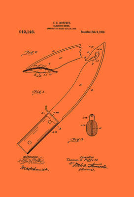 Antique Cleaning Knife Patent 1909 Print by Mountain Dreams