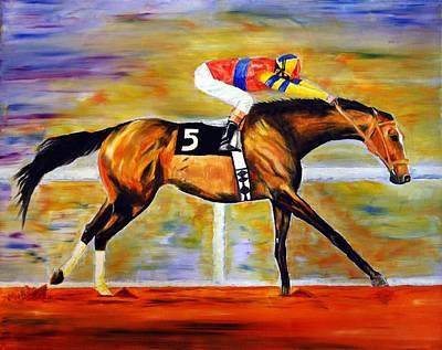 Ap Painting - Ap Indy by Jennifer Godshalk