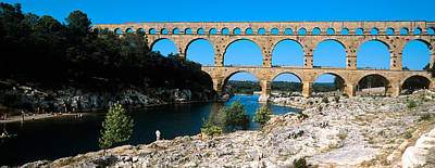 Aqueduct Across A River, Pont Du Gard Print by Panoramic Images