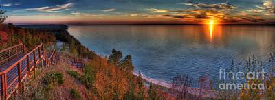 Northern Michigan Photograph - Arcadia Sunset by Twenty Two North Photography