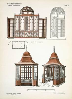 Garden Drawing - Architecture In Wood, C.1900 by Richard Dorschfeldt