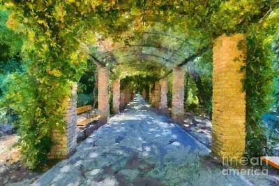 Benches Painting - Archway IIi by George Atsametakis