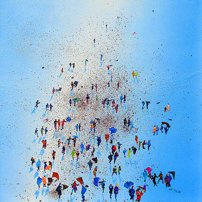 Crowds Painting - Arctic Stroll by Neil McBride