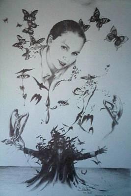 Drawing - Armonie In Agonie by Robert Art