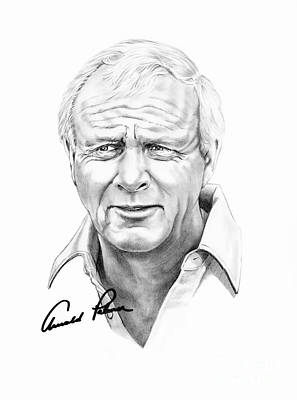 Arnold Palmer Drawing - Arnold Palmer by Murphy Elliott