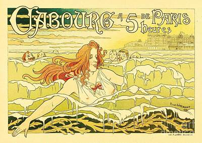 Advertisment Painting - Art Nouveau by Pg Reproductions