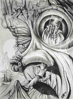 Ascent Of The Nose Print by Zuzana Drobnik