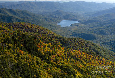 Asheville Watershed In The Blue Ridge Mountains Print by David Oppenheimer
