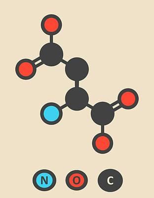 Aspartic Acid Molecule Print by Molekuul