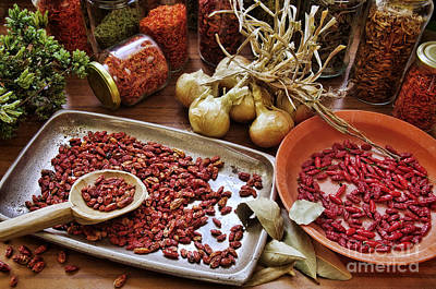 Chilli Photograph - Assorted Spices by Carlos Caetano
