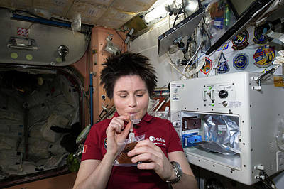 Astronaut Samantha Cristoforetti On Iss Print by Nasa