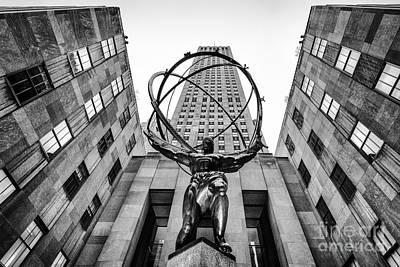 Structure Photograph - Atlas At The Rock by John Farnan