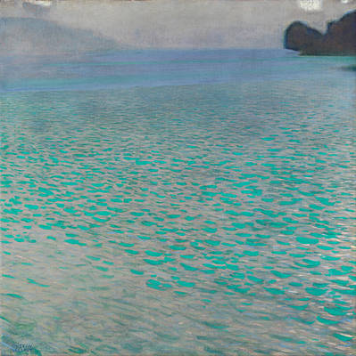 Resolution Painting - Attersee by Gustav Klimt