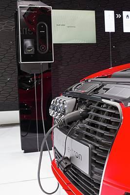 Audi A-3 E-tron Electric Car Print by Jim West