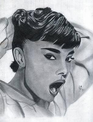 Audrey Hepburn Drawing - Audrey Hepburn by Bobby Dar