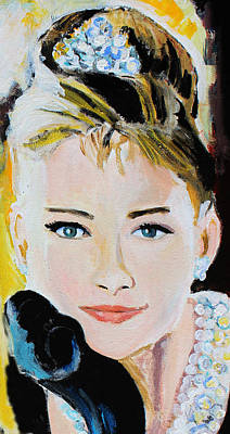 Painting - Audrey Hepburn  by Jon Baldwin  Art
