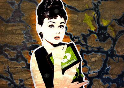 Audrey Painting - Audrey Hepburn  by Sam Lea