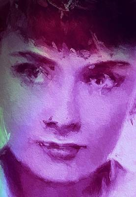 Audrey Hepburn Mixed Media - Audrey  by Steve K