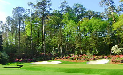 Augusta Golf Photograph - Augusta National - Hole 13 by Bo  Watson