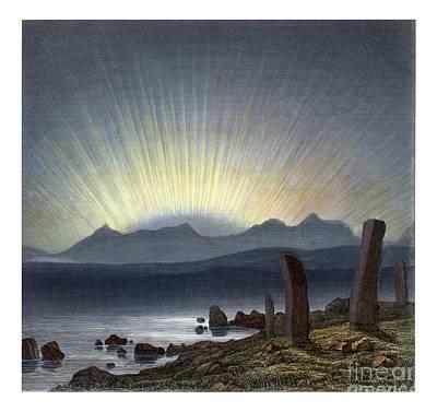Megalith Photograph - Aurora Borealis, 1854 Artwork by Detlev van Ravenswaay