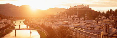 Rooftop Photograph - Austria, Salzburg, Salzach River by Panoramic Images