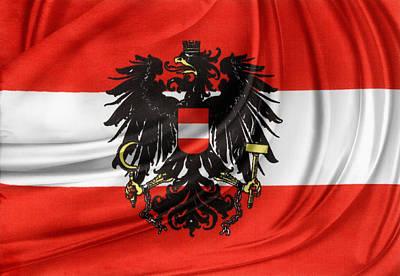 Austrian Flag Print by Les Cunliffe