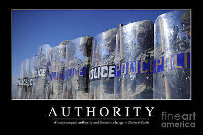 Police Officer Photograph - Authority Inspirational Quote by Stocktrek Images