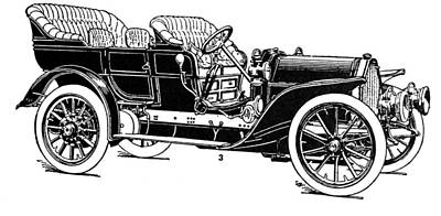 1907 Drawing - Automobile, 1907 by Granger