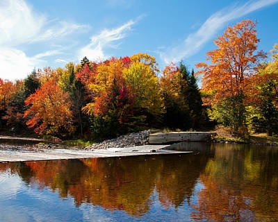 Autumn At The Lock And Dam Print by David Patterson