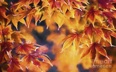 Leave Painting - Autumn Colors by Veikko Suikkanen