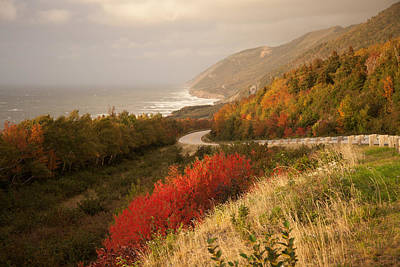 Autumn On The Cabot Trail Print by Michel Soucy