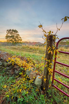 Rehoboth Photograph - Autumn On The Farm by Bryan Bzdula