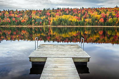 Autumn Reflection Print by Pierre Leclerc Photography