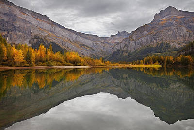 Autumn Reflections Print by Dominique Dubied