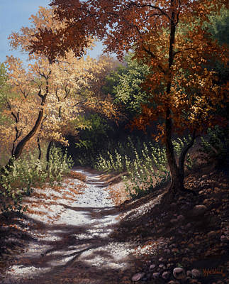 Kyle Wood Painting - Autumn Trails by Kyle Wood
