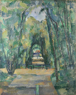Paul Cezanne Painting - Avenue At Chantilly by Paul Cezanne