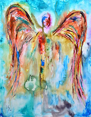Angel Art Painting - Azel by Ivan Guaderrama