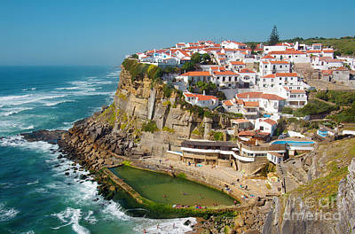 Azenhas Do Mar Print by Carlos Caetano