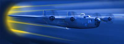 Panoramic Digital Art - B-24 Liberator Legend by Mike McGlothlen
