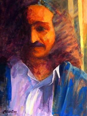 Baba Painting - Baba At Window by Joe DiSabatino
