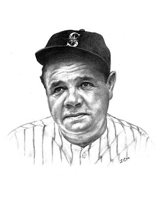 Babe Ruth Drawing - Babe Ruth by Lou Ortiz
