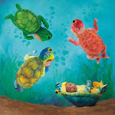Baby Turtles Print by Anne Geddes