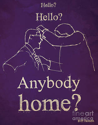 Back To The Future. Hello Hello Anybody Home... Print by Pablo Franchi