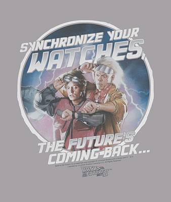 Fox Digital Art - Back To The Future II - Synchronize Watches by Brand A